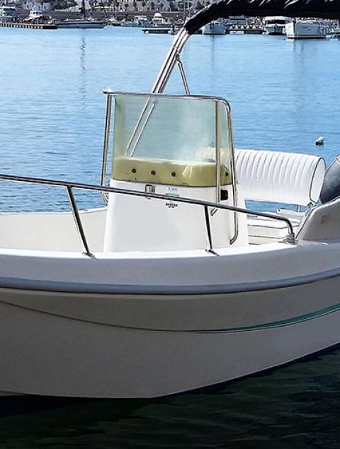 Lady 5.5 Locazione barca max 6 passeggeri (40 cv) NO PATENTE NAUTICA